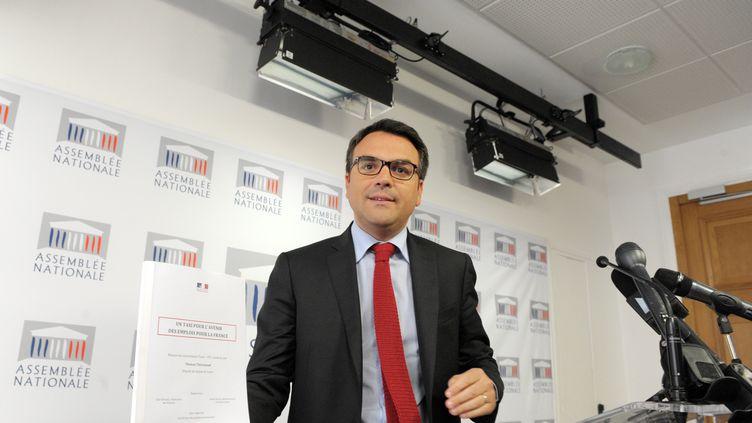 Thomas Thévenoud, le 24 avril 2014 à Paris. (ERIC PIERMONT / AFP)