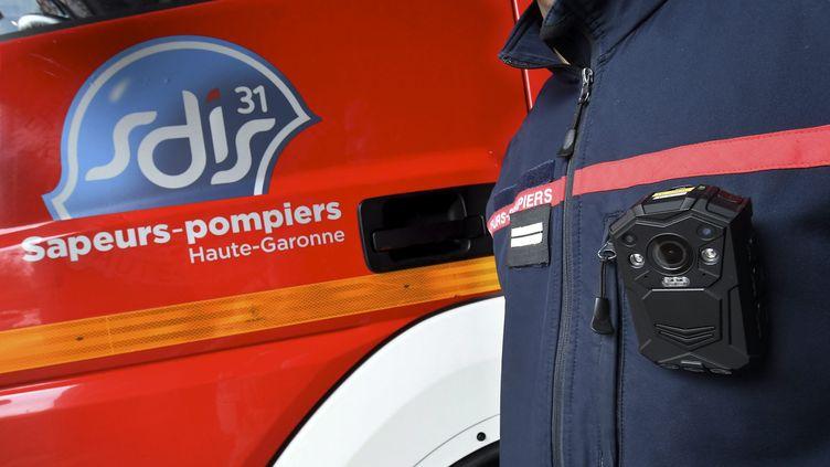 Le logo des sapeurs-pompiers de Haute-Garonne. (MICHEL VIALA / MAXPPP)