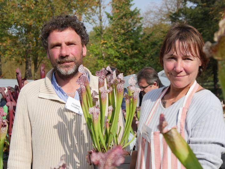 Matthieu et Catherine Jehanne, de la pépinière bretonne Carniflore. (ISABELLE MORAND / RADIO FRANCE)