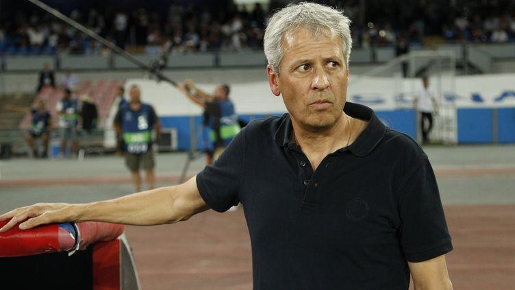L'entraîneur de Nice Lucien Favre (CARLO HERMANN / AFP)
