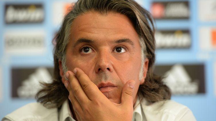 Vincent Labrune, en partance de l'Olympique de Marseille (BORIS HORVAT / AFP)