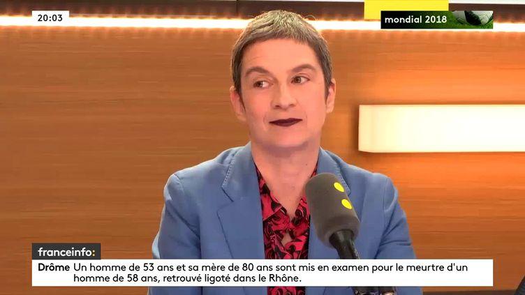 Caroline Mecary, avocate et conseillère de Paris sur franceinfo, le 25 juin 2018. (FRANCEINFO / RADIOFRANCE)