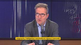 Martin Hirsch, le directeur général de l'APHP, sur franceinfo le 13 septembre. (FRANCEINFO / RADIO FRANCE)