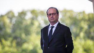 Le président de la République, François Hollande, lors de la commémoration du 102e anniversaire du génocide arménien à Paris, le 24 avril 2017. (CHRISTOPHE PETIT TESSON / AFP)
