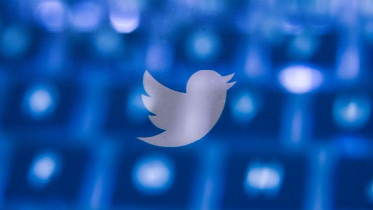 Le logo du réseau social Twitter, le 10 mars 2020, à Cracovie, en Pologne. (JAKUB PORZYCKI / NURPHOTO / AFP)