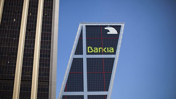 Le siège de Bankia, nationalisée par le gouvernement espagnol, le 18 mai 2012 à Madrid (Espagne). (PAUL HANNA / REUTERS)