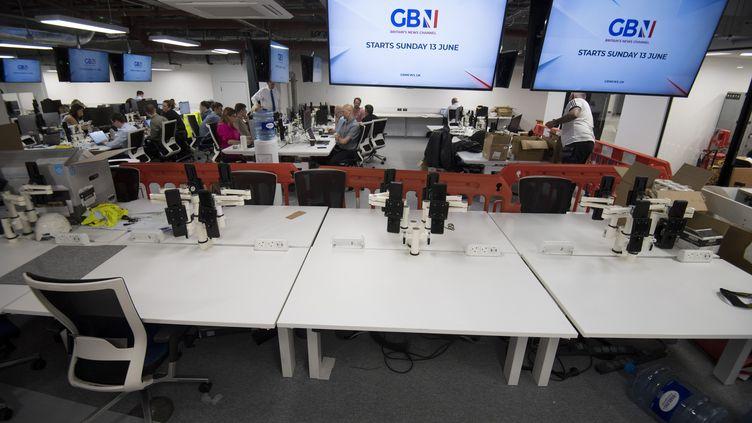 La rédaction de la nouvelle chaîne d'information britannique, GB News. (KIRSTY O'CONNOR / MAXPPP)