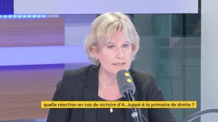 Nadine Morano sur franceinfo, le 10 novembre 2016 (FRANCEINFO / RADIOFRANCE)