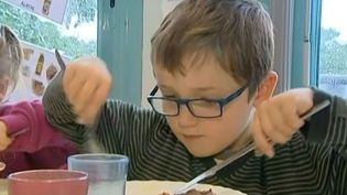 Les repas servis aux enfants de la cantine de Marsaneix sont certifiés par le label Ecocert. ( FRANCE 3 / FRANCETV INFO)