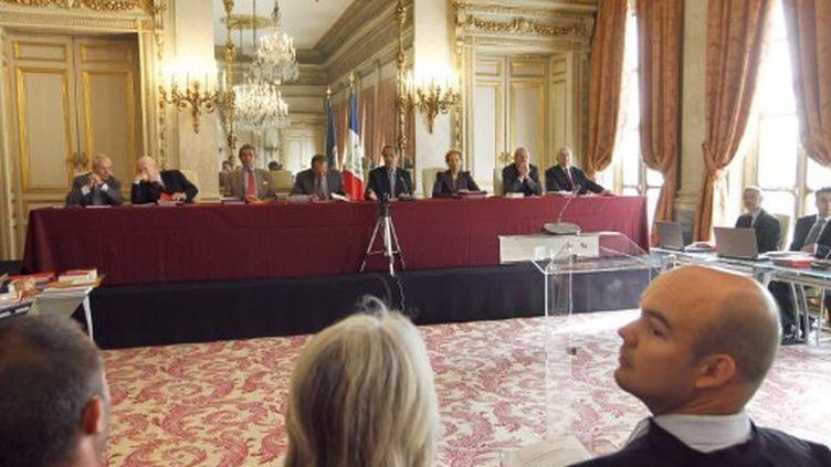 Conseil constitutionnel (lors d'une audience publique) (FRANCOIS GUILLOT / AFP)