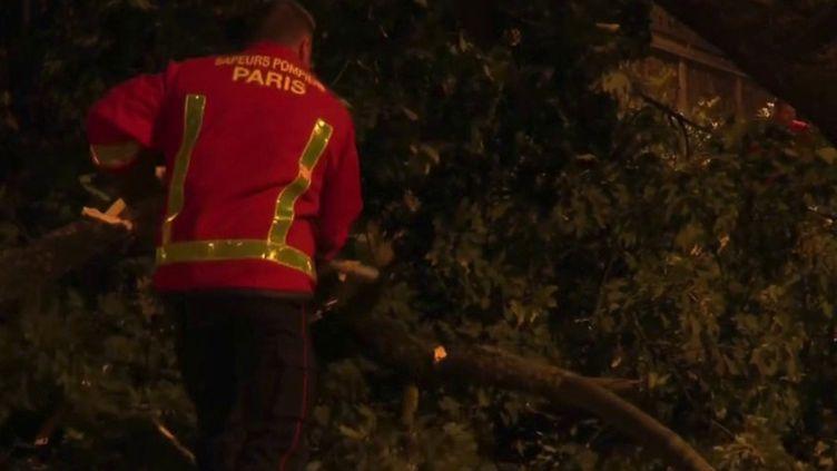 La tempête Aurore a causé un grand nombre de dégâts dans la nuit du mercredi 20 au jeudi 21 octobre. (CAPTURE ECRAN FRANCE 2)