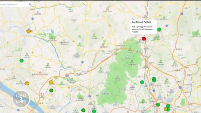 Soirée de l'info. En Corée du Sud, une carte numérique pour géolocaliser les porteurs du coronavirus