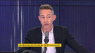 Ian Brossat, porte-parole du PCF, adjoint à la maire de Paris en charge du Logement sur franceinfo le 5 juin 2021. (FRANCEINFO / RADIO FRANCE)