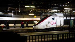 Un train stationnédans la gare de l'Est à Paris, le15 décembre 2019. (EDOUARD RICHARD / AFP)