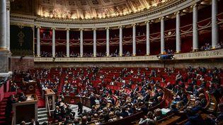 L'hémicycle de l'Assemblée nationale à Paris, le 20 février 2019. (PHILIPPE LOPEZ / AFP)