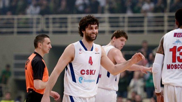 Milos Teodosic et ses coéquipiers (CSKA Moscou)