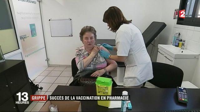 Grippe : le succès de la vaccination en pharmacie