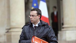 Philippe Rio, maire de Grigny, sort du palais de l'Elysée, à Paris, le 29 janvier 2015. (ALAIN JOCARD / AFP)