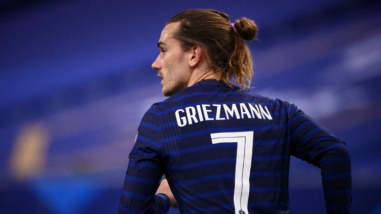 Antoine Griezmann lors du match France-Ukraine le 24 mars 2021. (FRANCK FIFE / AFP)