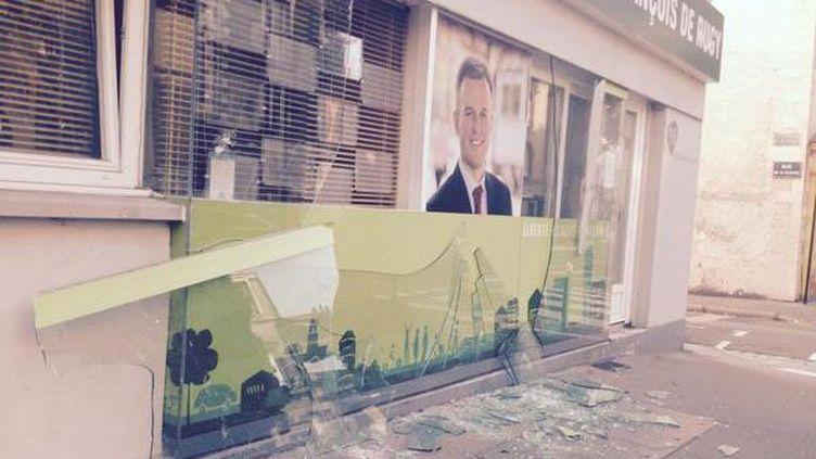 La permanence vandalisée du député écologiste François de Rugy, à Nantes (Loire-Atlantique), le 30 août 2015. (JEREMY AUDOUARD / FRANCE 3)