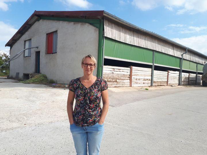 L'exploitation en milieu confiné deChristine Maire, éleveuse porcine à Herméville-En-Woëvre,est moins sujette à une contamination extérieure. (FARIDA NOUAR / FRANCEINFO)