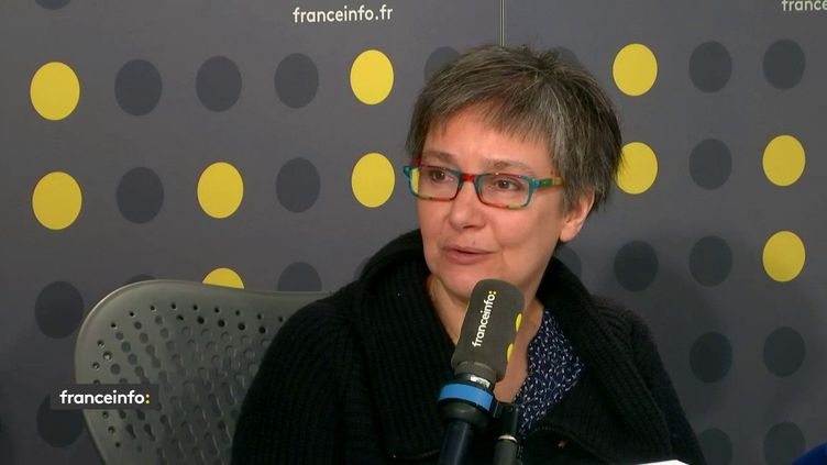 Pauline Bèbe, première femme rabbin de France, invitée de franceinfo le 23 janvier. (FRANCEINFO / RADIO FRANCE)