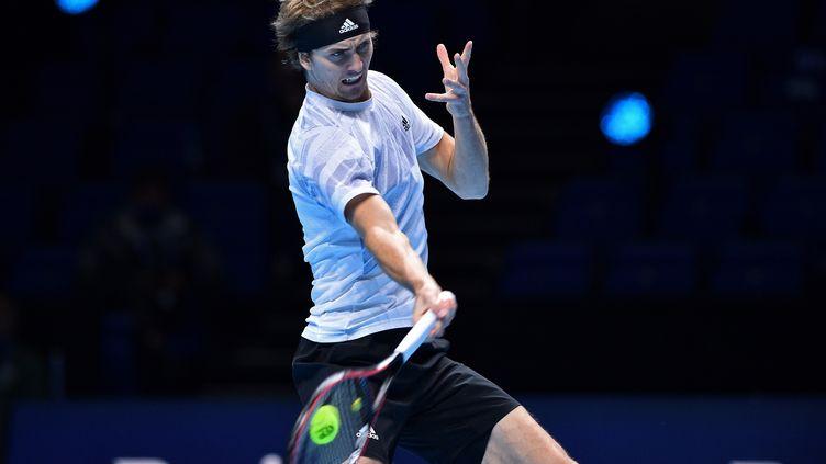 Alexander Zverev, tombeur de Diego Schwartzman aux ATP Finals. (GLYN KIRK / AFP)