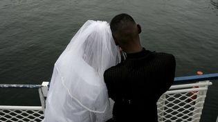 Couple sud-africain se mariant le jour de la Saint-Valentin (GIANLUIGI GUERCIA / AFP)