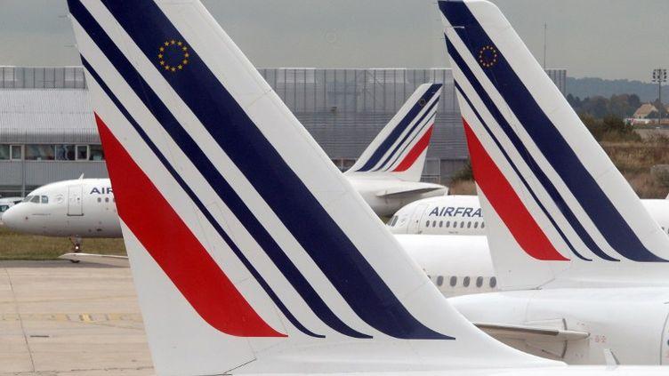Des avions Air France sur le tarmac de l'aéroport Roissy-Charles-de-Gaulle, le 10 octobre 2013. (GABRIEL BOUYS / AFP)