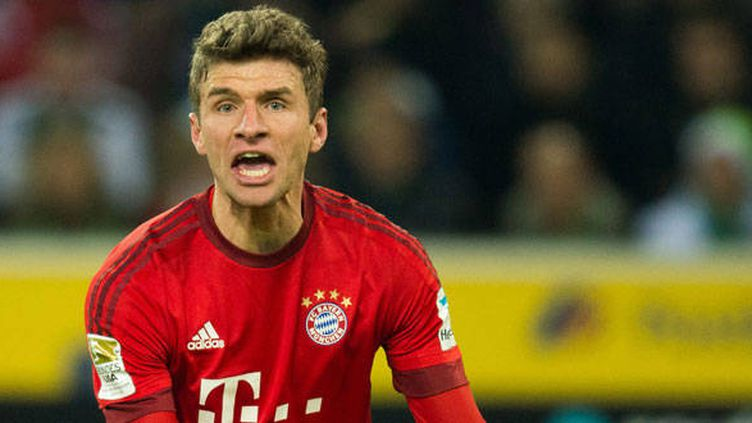 Le joueur allemand du Bayern, Thomas Müller