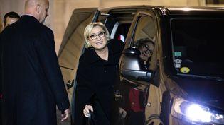 Marine Le Pen le 21 novembre 2017 à Paris. (MAXPPP)