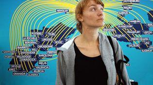 Image symbolique d'une étudiante participant au programme européen d'échange Erasmus. (DUART DANIEL/SIPA)