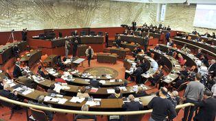 L'assemblée du conseil régional du Centre-Val-de-Loire, en décembre 2015. (GUILLAUME SOUVANT / AFP)