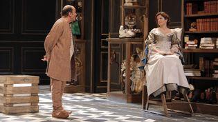 """Molière réunit Jean-Pierre Bacri et Agnès Jaoui au théâtre pour la première fois depuis1994, pour """"Les Femmes savantes"""" (PASCAL VICTOR / ARTCOMART)"""