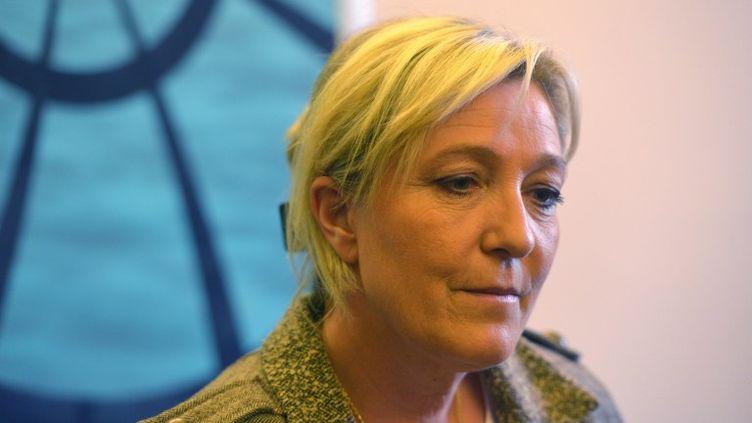 La présidente du Front national, le 6 mai 2015 à Prague (République tchèque). (MICHAL CIZEK / AFP)