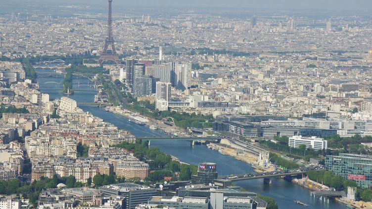 Vue aerienne de Paris, en 2010. (PIERRE NEVEUX / RADIO FRANCE)