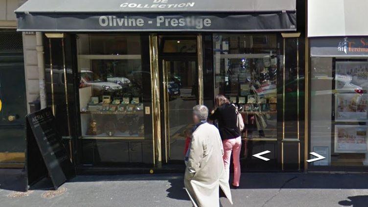 Capture d'écran de la bijouteriebijouterie Olivine, située 6 rue de Tocqueville à Paris, le 28 novembre 2017. (GOOGLE STREET VIEW)