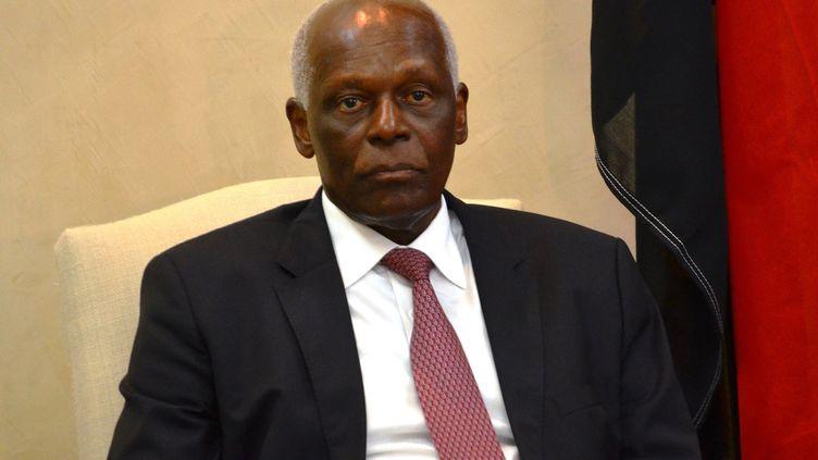 Jose Edouardo Dos Santos, alors président de l'Angola, en visite à Kinshasa (RDC) le 19 janvier 2015 (TUTONDELE MIANKENDA / AFP)