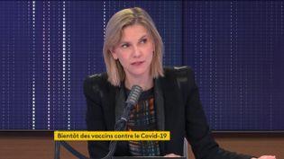 Agnès Pannier-Runacher, ministre déléguée auprès du ministre de l'Économie, chargée de l'Industrie, invitée de franceinfo le 16 novembre 2020. (FRANCEINFO / RADIOFRANCE)