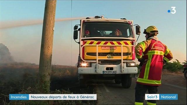 Incendies : de nouveaux départs de feu à Générac