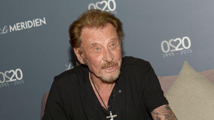 Le chanteur Johnny Hallyday est âgé de 73 ans. (FRED PAYET / AFP)