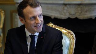 Emmanuel Macron, à l'Elysée, à Paris, le 19 décembre 2017. (PHILIPPE WOJAZER / AFP)