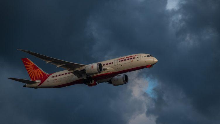 Un vol Air India au départ de Hong Kong, le 19 mai 2021. (MARC FERNANDES / NURPHOTO / AFP)