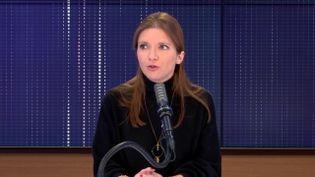 """Aurore Bergé,députée LREM des Yvelines était l'invitée du """"8h30 franceinfo"""", samedi 10 avril 2021. (FRANCEINFO / RADIOFRANCE)"""