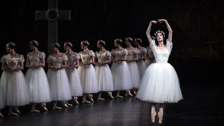 """Durant les répétitions du ballet """"Giselle l'immortelle"""" à l'Opéra Garnier de Paris, le 30 janvier 2020. (LIONEL BONAVENTURE / AFP)"""