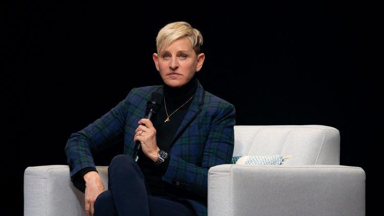 Ellen DeGeneres, lors d'une conférence, à Montréal (Canada), le 1er mars 2019. (DAVID HIMBERT / AFP)