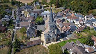 L'église de La Celle-Guenand (Indre-et-Loire), photographiéele 26 août 2018, a été sélectionnée parmi les monuments à restaurer du Loto du patrimoine. (GUILLAUME SOUVANT / AFP)
