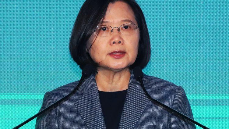 La présidente de Taïwan, Tsai Ing-wen, le 11 janvier 2020. (KOKI KATAOKA / YOMIURI)