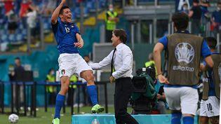 Matteo Pessina a marqué le seul but de l'Italie face au pays de Galles. (ANDREAS SOLARO / POOL)