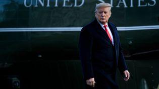 Le président américain Donald Trump sur la pelouse de la Maison Blanche, vendredi 7 février 2020 à Washington (Etats-Unis). (BRENDAN SMIALOWSKI / AFP)
